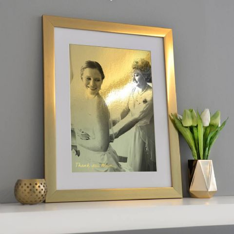 Personalised Framed Metallic Gold Printed Photo